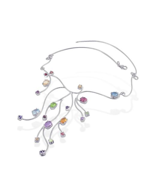 FORZIERI | Multicolor Sterling Silver Multi-gemstones Necklace | Lyst