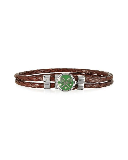 FORZIERI | Green Tennis Rackets Metal And Leather Men's Bracelet for Men | Lyst