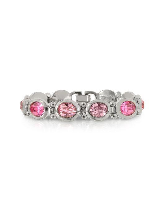 FORZIERI | Pink Crystals Bracelet | Lyst