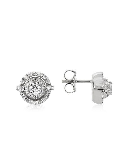 FORZIERI | 0.84 Ctw Diamond 18k White Gold Earrings | Lyst