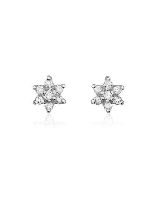 FORZIERI | Metallic 0.25 Ct Diamond Flower 18k Gold Earrings | Lyst