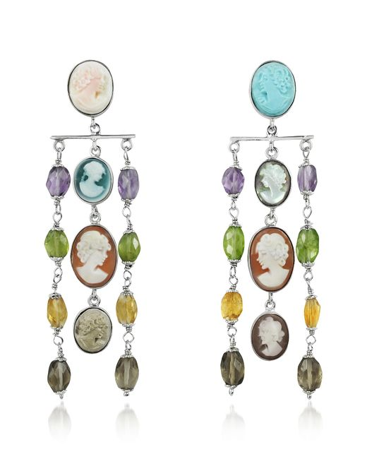 Mia & Beverly | Metallic Cameo Cascade Earrings | Lyst