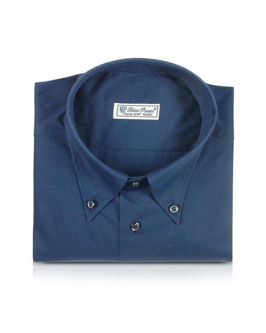 FORZIERI | Blue Roses - Solid Blue Button Down Cotton Dress Shirt for Men | Lyst