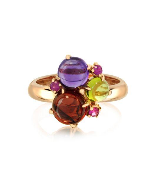Mia & Beverly | Purple Gemstones 18k Rose Gold Ring | Lyst