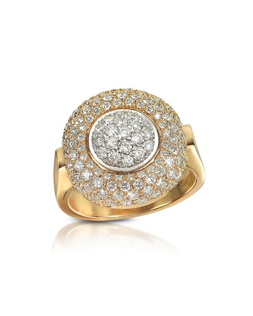 FORZIERI | Metallic 1.49 Ct Diamond Pave 18k Gold Ring | Lyst