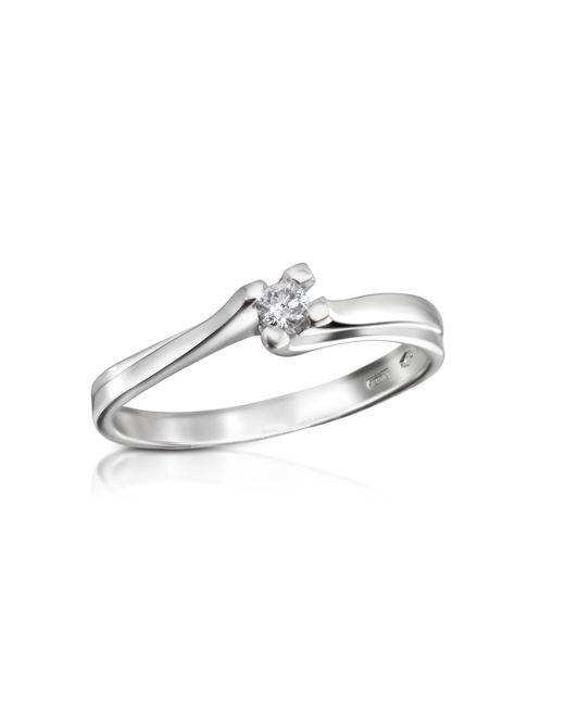 Forzieri | White 0.08 Ctw Diamond Solitaire Ring | Lyst