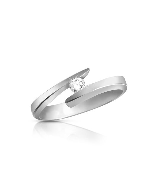 Forzieri | Metallic 0.065 Ct Diamond 18k Gold Solitaire Ring | Lyst