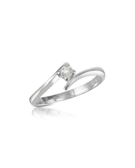 FORZIERI | Metallic 0.10 Ct Diamond Solitaire Ring | Lyst