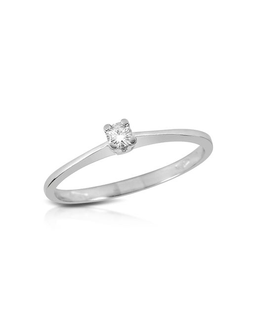 FORZIERI | White 0.04 Ct Prong-set Diamond Solitaire Ring | Lyst