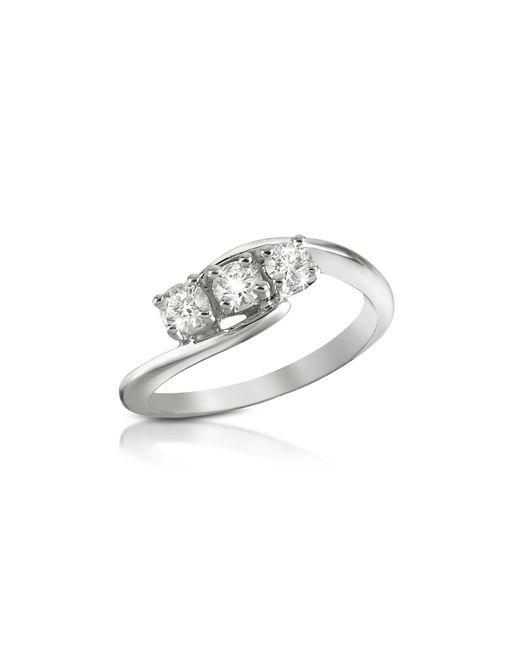 FORZIERI | Metallic 0.315 Ct Three-stone Diamond 18k Gold Ring | Lyst