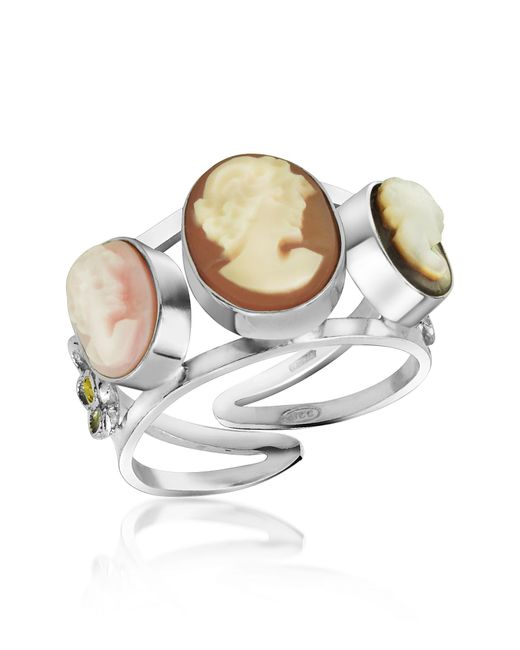 Mia & Beverly | Metallic Cameo Trio Ring | Lyst