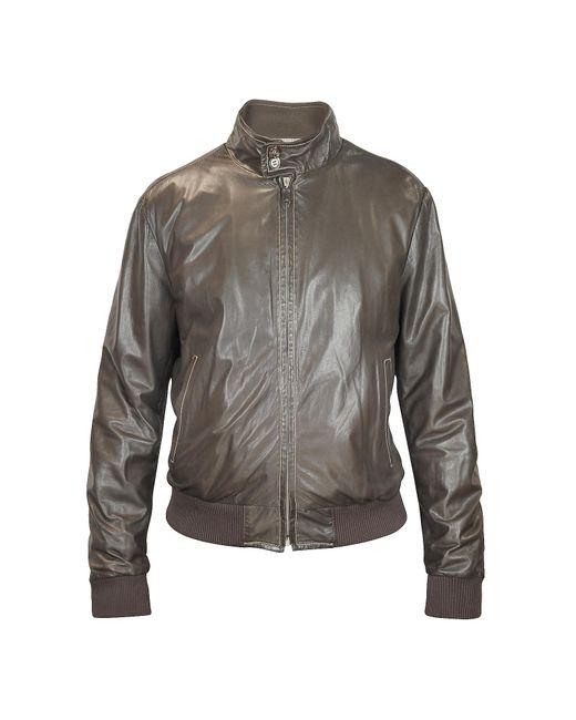 FORZIERI | Men's Dark Brown Soft Leather Bomber Jacket for Men | Lyst