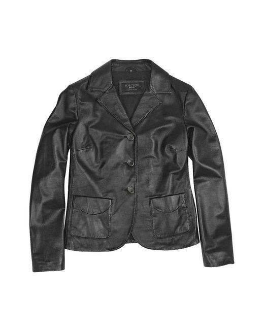 FORZIERI   Black Genuine Italian Leather Jacket   Lyst