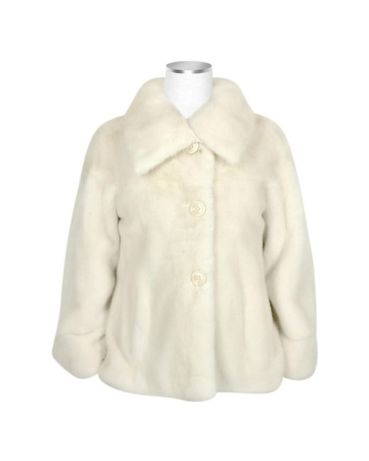 FORZIERI   White Ultimate Luxury Collection Pearl Mink Fur Button-front Jacket   Lyst