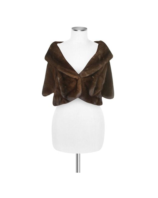 FORZIERI | Ultimate Luxury Collection Brown Mink Fur Front-pockets Cape | Lyst