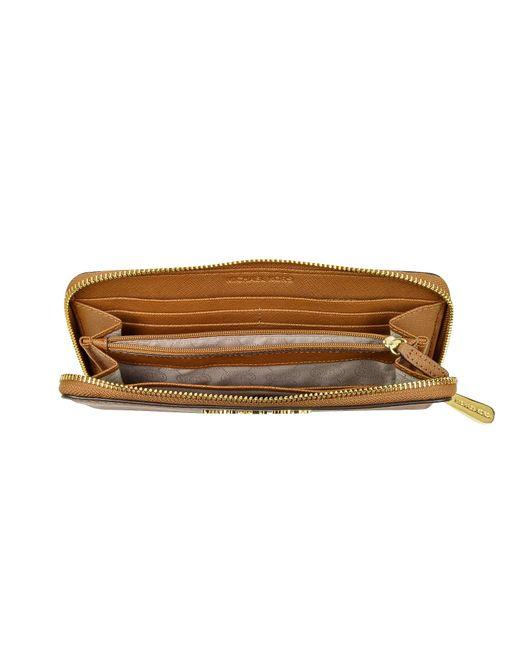 Michael Michael Kors Jet Set Travel Leather Continental Wallet: Michael Kors Luggage Jet Set Travel Saffiano Leather