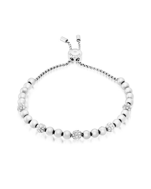Michael Kors | Metallic Brilliance Stainless Steel And Crystals Beads Bracelet | Lyst