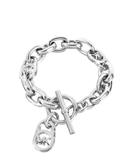 Michael Kors | Metallic Logo-lock Charm Women's Bracelet | Lyst