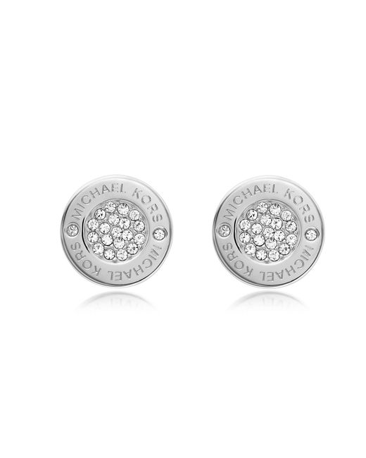 Michael Kors | Metallic Heritage Pave Stud Earrings | Lyst