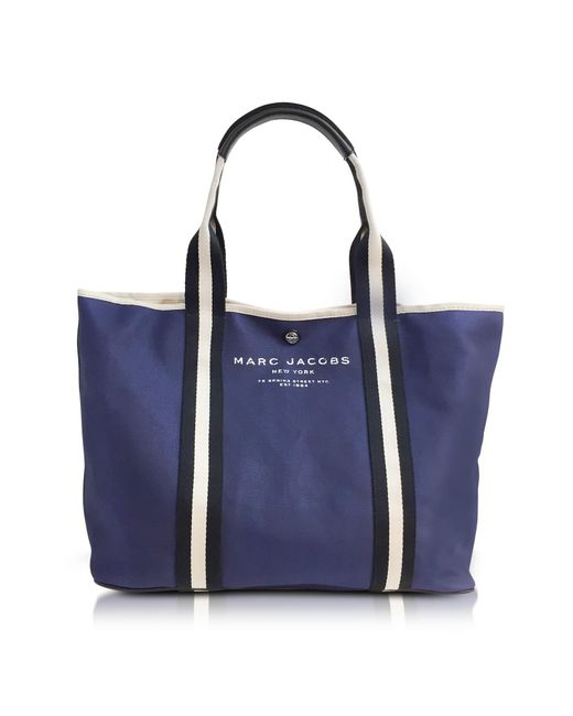 Marc Jacobs | Midnight Blue Canvas Ew Tote | Lyst