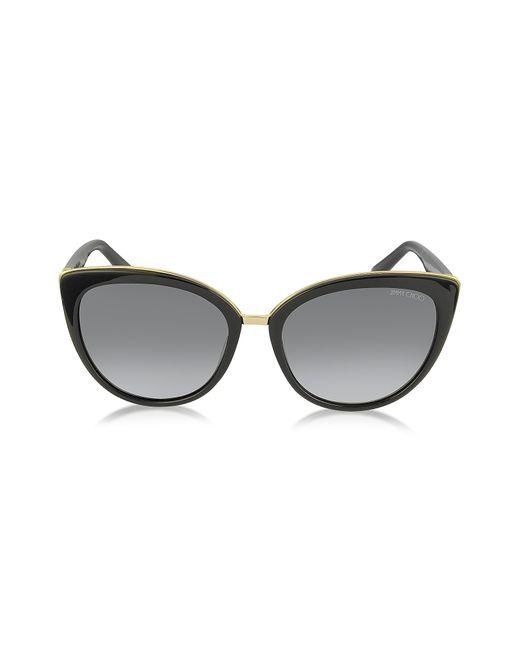 Jimmy Choo Dana/s Acetate Cat Eye Sunglasses in Black