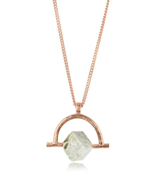 Bjorg | Pink Wonder Wander Agate Stone Women's Necklace | Lyst