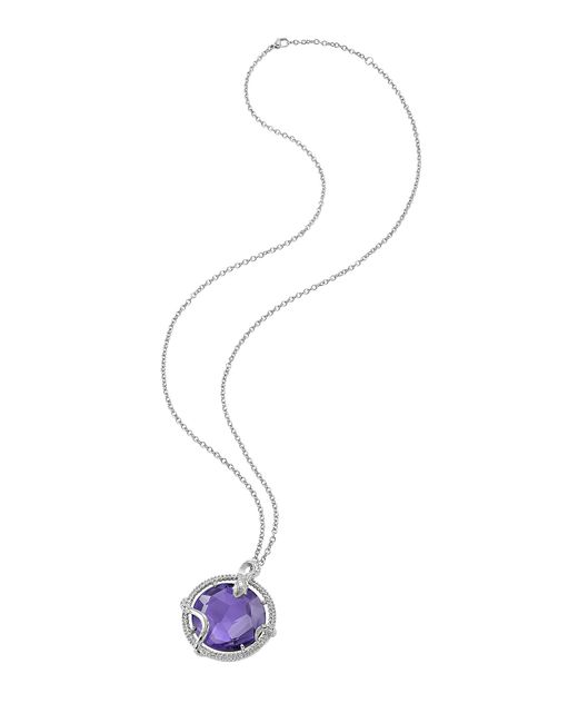 Just Cavalli | Purple Just Queen Silvertone Necklace W/pendant | Lyst