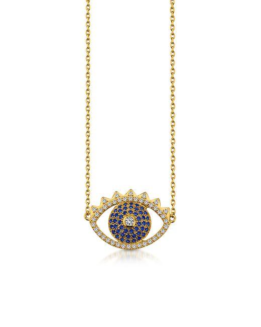 KENZO | Multicolor Golden Sterling Silver Eye Necklace | Lyst