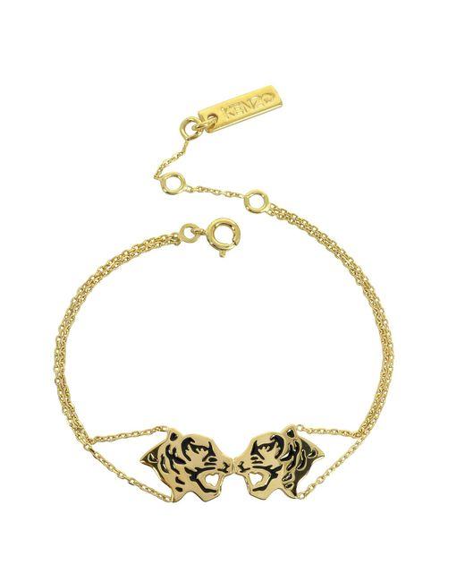 KENZO | Metallic Gold Plated Tassel Tiger Bracelet | Lyst