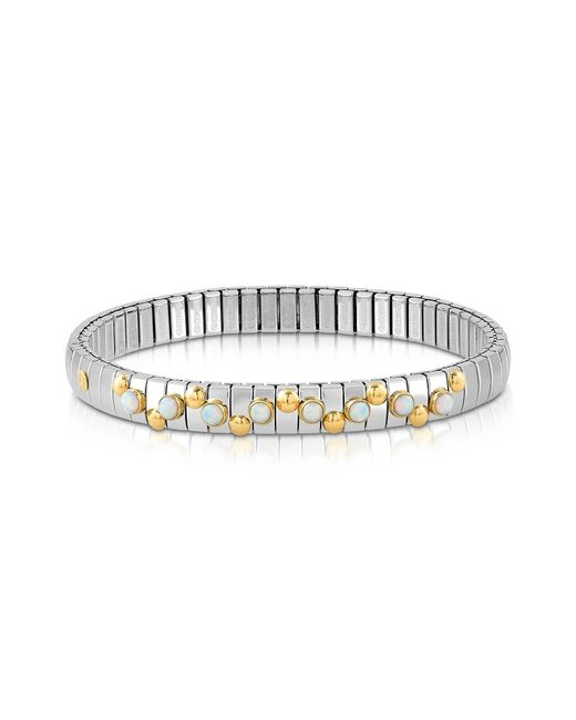 Nomination | Metallic Stainless Steel Women's Bracelet W/white Pearls | Lyst