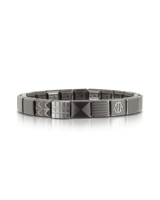 Nomination | Metallic Steel Ikons Pyramids Brushed Stainless Steel Bracelet for Men | Lyst