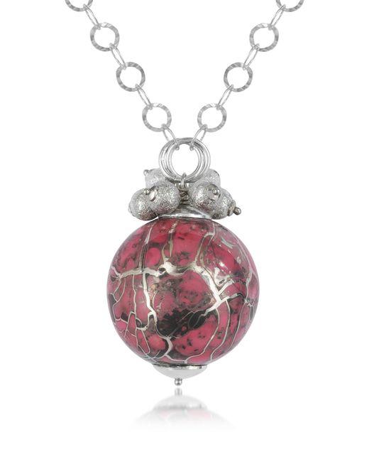 Naoto | Metallic Alchimia - Sterling Silver Fuchsia Pendant Necklace | Lyst