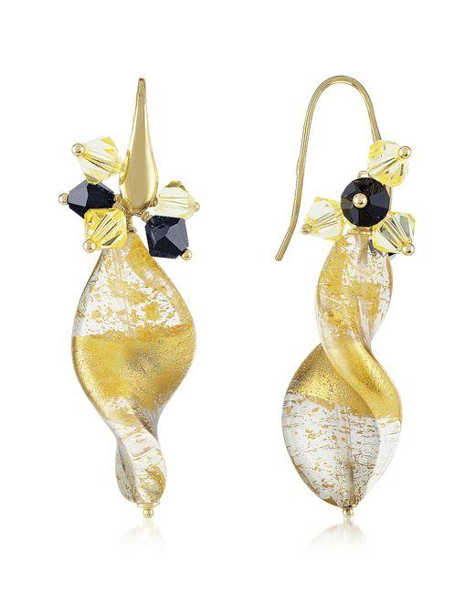 Naoto | Metallic Gold Foil Drop Earrings | Lyst