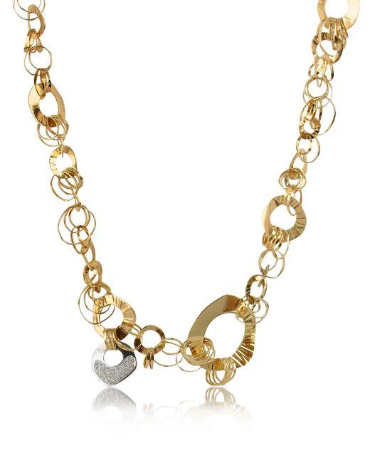 Orlando Orlandini   Metallic Fashion - Diamond 18k Rose Gold Chain Necklace   Lyst