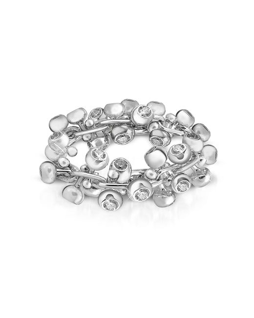 Orlando Orlandini | Diamond Studs 18k White Gold Band Ring | Lyst