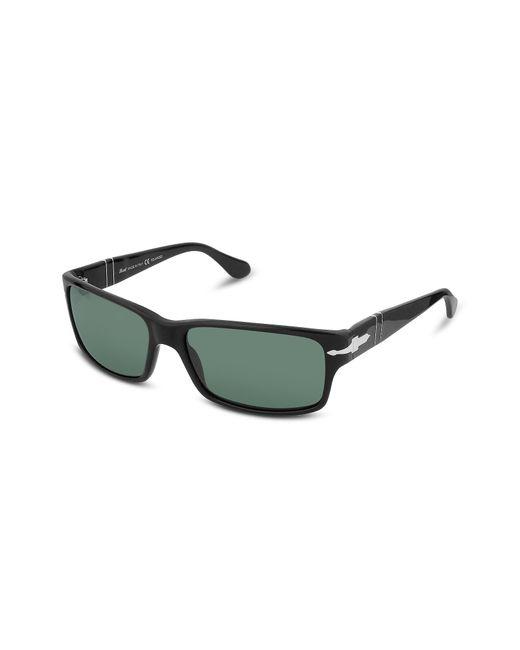 Persol | Black Arrow Signature Rectangular Plastic Sunglasses for Men | Lyst