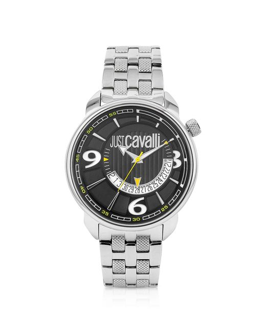 Just Cavalli   Earth Black Dial Date Watch for Men   Lyst