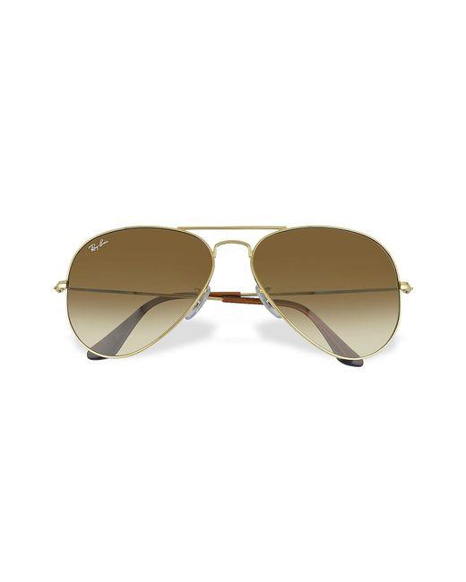 Ray-Ban | Brown Aviator - Large Metal Sunglasses | Lyst