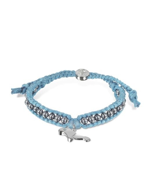 Sho London | Blue Manatee Friendship Silk Bracelet | Lyst