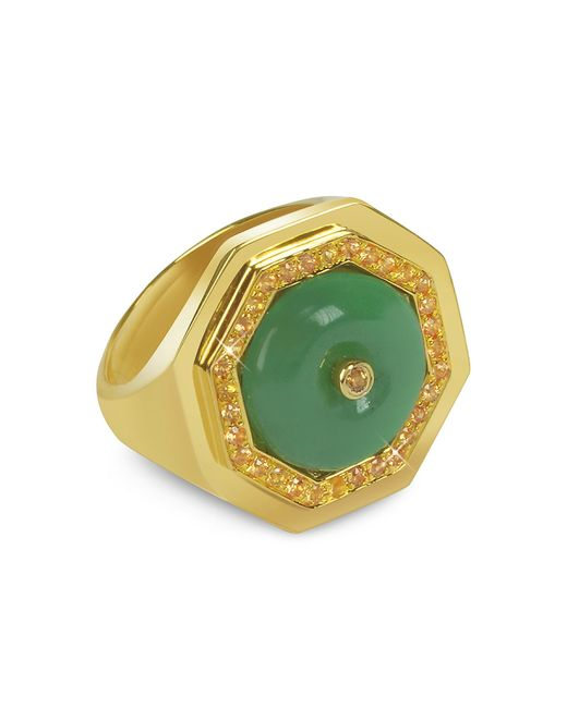 Sho London | Green Aventurine Clementina Ring | Lyst