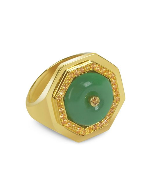 Sho London | Metallic Aventurine Clementina Ring | Lyst