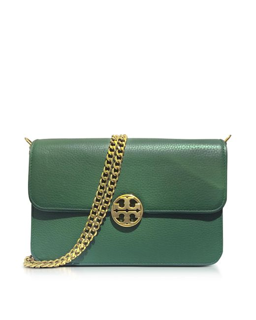 Tory Burch   Green Chelsea Leather Shoulder Bag   Lyst
