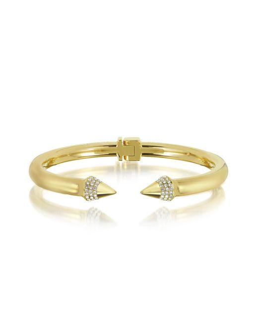 Vita Fede | Metallic Gold Plated Mini Titan Crystal Bracelet | Lyst