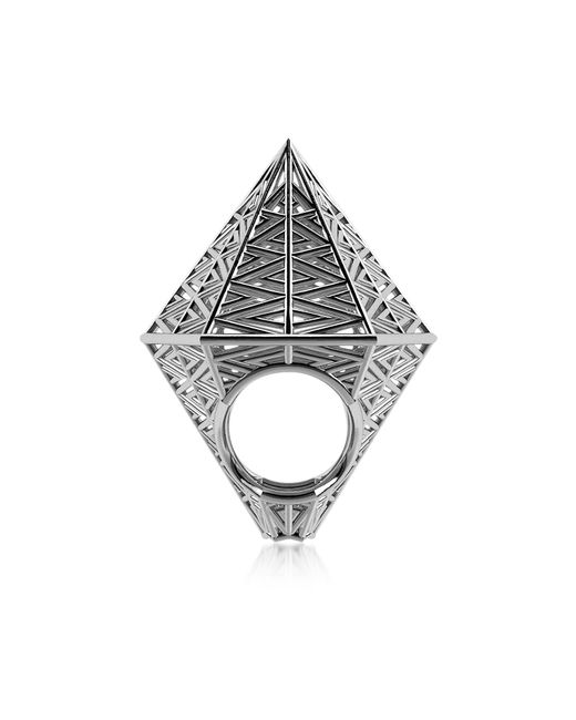 Vojd Studios | Metallic Umbala Hexagonal Sterling Silver Ring | Lyst