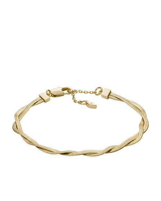 Bracelet à chaîne Golden Sun en laiton effet vieilli doré -Doré Fossil en coloris Metallic