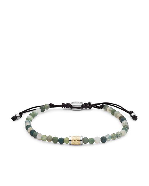 Bracelet de perles en agate vert mousse Money Gang -Vert Fossil pour homme en coloris Green