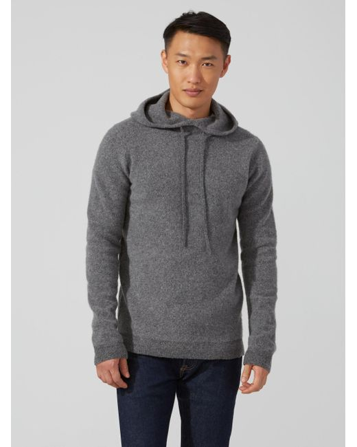 Frank and oak Boiled Wool Pullover Hoodie In Heather Grey in Gray ...