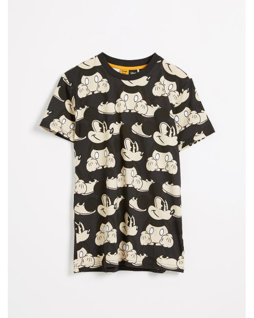 Frank And Oak - Multicolor Mickey Mouse® All Over Print T-shirt - White for Men - Lyst