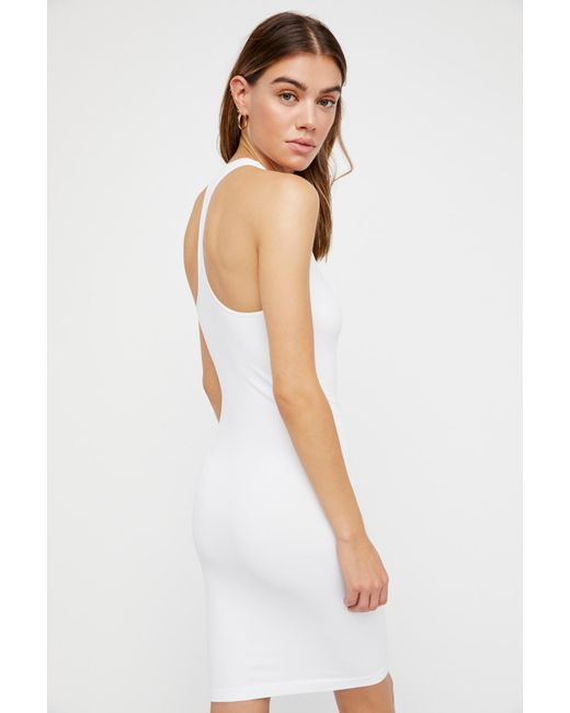 Free People White Seamless Racerback Slip By Intimately