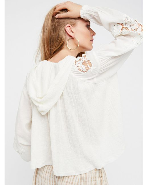 Free People | White Tropical Summer Pullover | Lyst